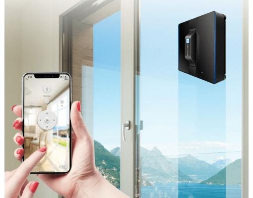 Robot pentru curatarea ferestrelor LIECTROUX WS-1080, Bluetooth, 3 moduri de curatare